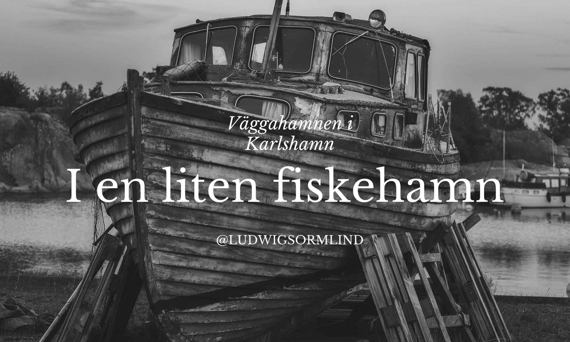 Träbåt i Väggahamnen i Karlshamn - Ludiwg Sörmlind