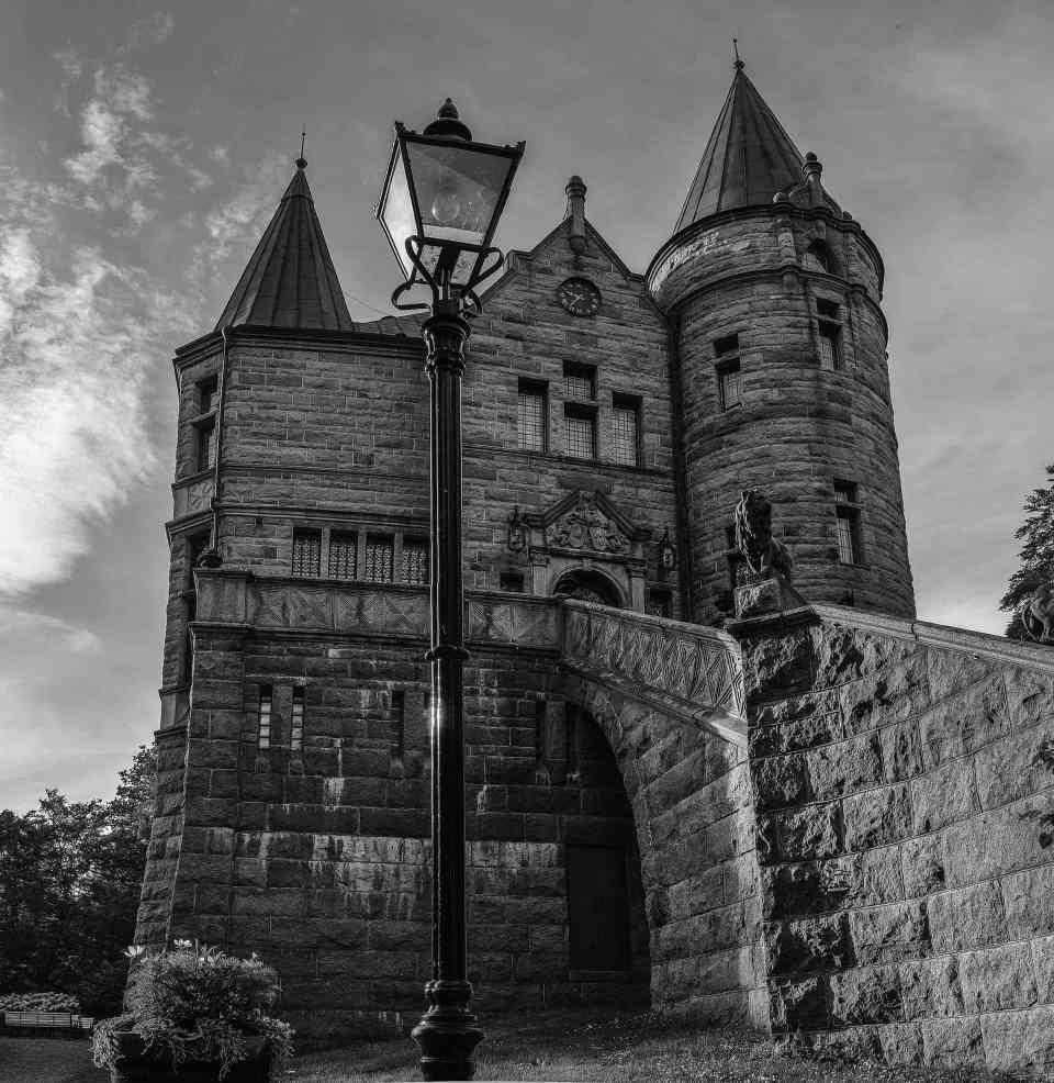 Teleborgs Slott i svartvitt - Ludwig Sörmlind