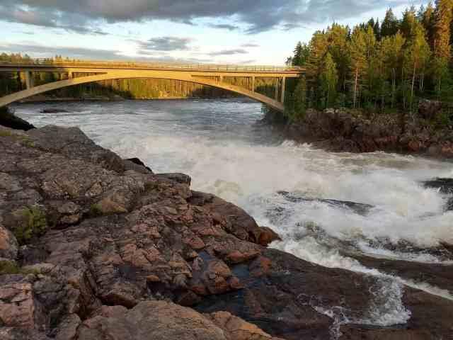 Bron över Kalixälven vid Jockfall - Ludwig Sörmlind