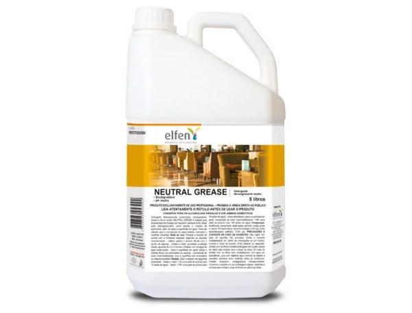 Neutral Grease - Detergente Desengraxante Neutro de Uso Geral - Galão de 5 litros - Elfen