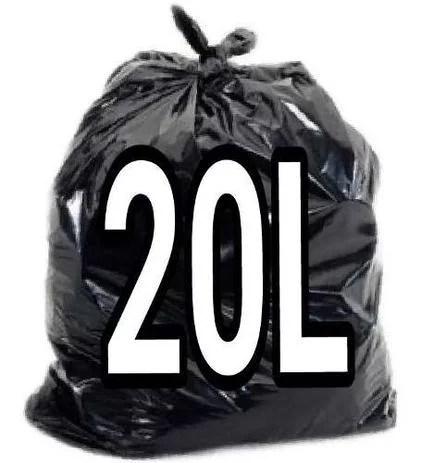 Saco de Lixo Preto 20 Litros - 100 Unidades - Lueri Clean
