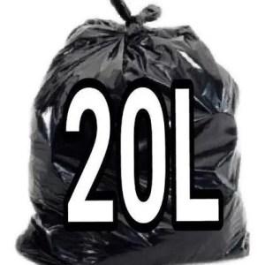 Saco de Lixo Preto 20 Litros – 100 Unidades – Lueri Clean