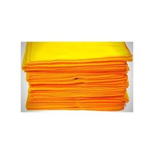 Flanela Amarela Grande 28 x 48 – Pacote Com 12 Unidades – Caebi