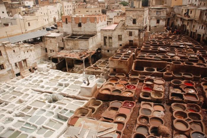 Curtume de Chouwara. Cidade velha, Fez. Foto por Karina Cordeiro.