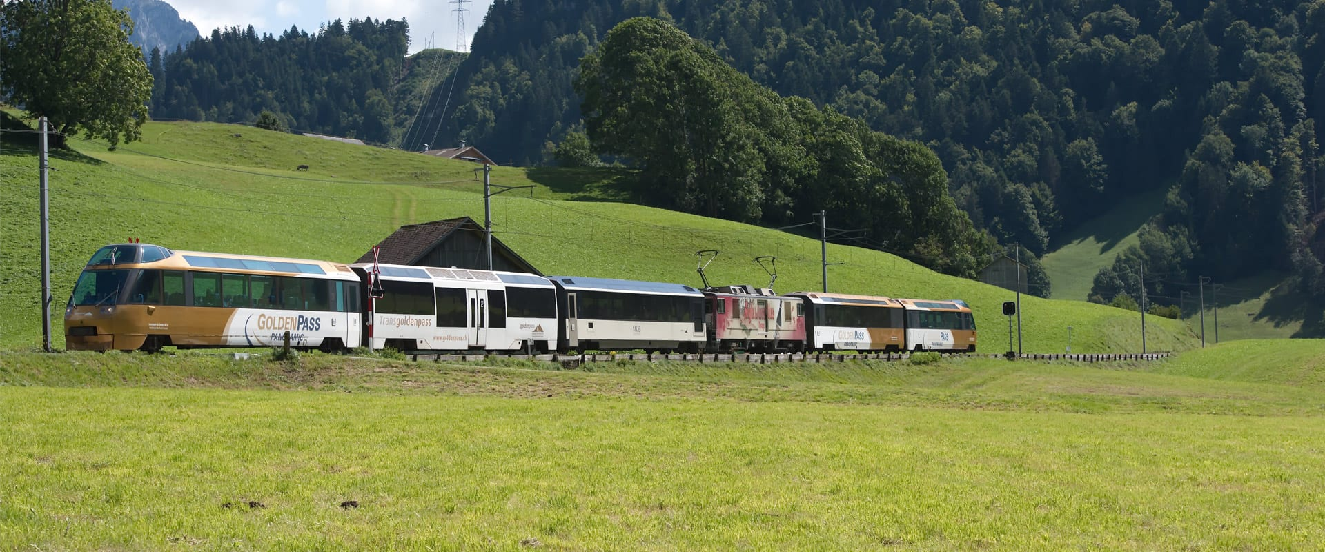 Trem de Lucerna para Interlaken