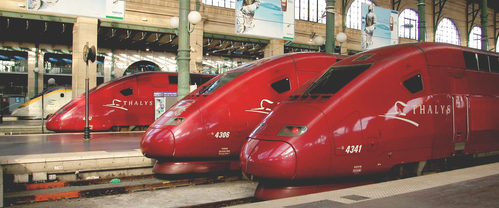 Trem de Amsterdam para Paris