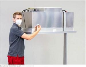 Luft filtern in 2,5 Metern Höhe