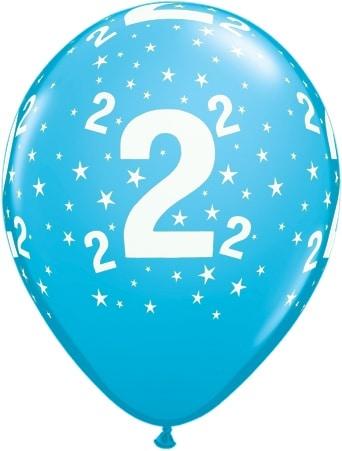 Helium Luftballon Zahl 2 zum 2 Geburtstag 28 cm
