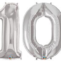 Zahlenballon 10 Riesen Luftballon Zahl, 85 cm   Lufties ...
