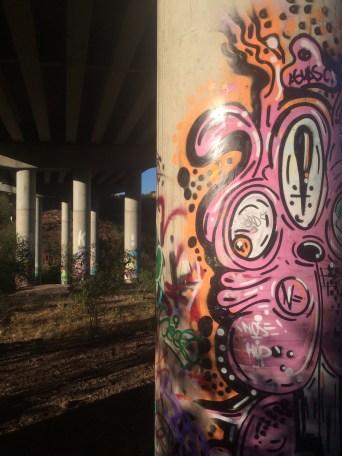 Graffiti outside the city of Guanajuato