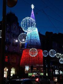 El Árbol de la Puerta de el Sol. Alumbrado Navidad Vigo 2018