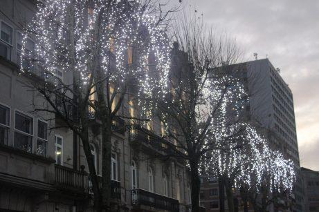 Iluminación de navidad en Montero Ríos. Alumbrado Navidad Vigo 2019