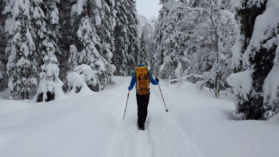 Navidad esquiador