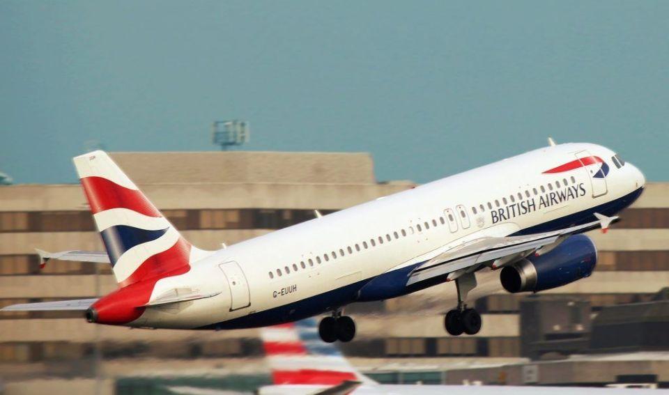 Avión hacia Londres