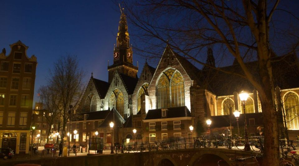 Oude kerk en Ámsterdam
