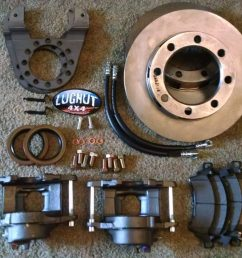older 14 bolt full float disc brake conversion kit stud mounted drums [ 1024 x 941 Pixel ]