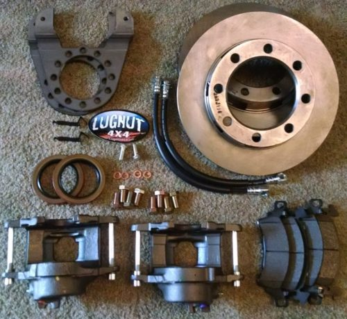 small resolution of older 14 bolt full float disc brake conversion kit stud mounted drums