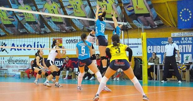 Lugoj Expres CSM Lugoj a obținut primul punct în play-off volei Târgoviște Divizia A1 Dinamo București CSM Lugoj