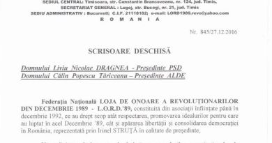 Lugoj Expres LORD'89 solicită declanșarea procedurilor constituționale de suspendare a Președintelui României suspendarea Președintelui României scrisoare deschisă LORD'89 Loja de Onoare a Revoluționarilor din Decembrie 1989
