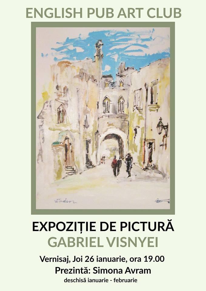 Lugoj Expres Gabriel Visnyei - expoziție de pictură la English Pub Art Club Lugoj pictura Gabriel Visnyei expoziție English Pub Art Club Lugoj