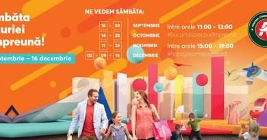 """Lugoj Expres """"Ziua oficială a bucuriei împreună"""" - sâmbăta, la Centrele Comerciale Auchan, în Timișoara ziua bucuriei happy team centre comerciale cadouri Auchan Timișoara auchan"""