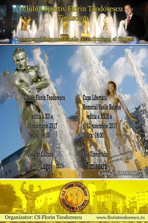 """Lugoj Expres Concursul internațional de culturism și fitness """"Classic Florin Teodorescu"""", ediția a XII-a fitness Cupa Libertăţii - Memorial Vasile Balmuş culturism concurs Classic Florin Teodorescu"""