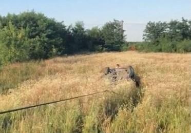 Lugoj Expres Tragedie, pe DN6! Un tânăr a murit după ce a făcut tumbe cu BMW-ul tragedie mașină răsturnată Lugoj DN6 decedat Caransebeș BMW accident mortal