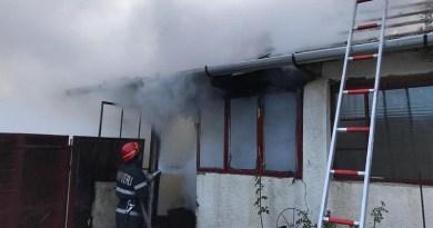 Lugoj Expres Incendiu violent lângă Lugoj! pompieri ISU Timiș incendiu violent incendiu Hodoș foc flăcări Detașamentul de Pompieri Lugoj anexă