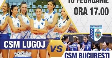 Lugoj Expres CSM Lugoj întâlnește campioana CSM București volei prima ligă meci Divizia A1 CSM Lugoj CSM București