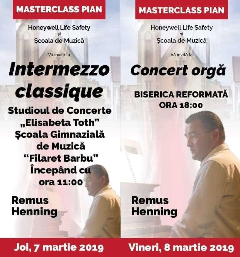 """Lugoj Expres Remus Henning - masterclass de pian și concert de orgă Școala Gimnazială de Muzică """"Filaret Barbu"""" Remus Henning pian orgă masterclass Lugoj evenimente muzicale concert"""