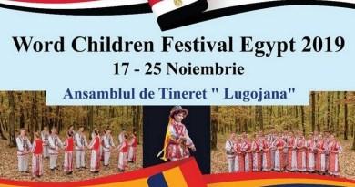 "Lugoj Expres Ansamblul ""Lugojana"", la World Children Festival, în Egipt World Cildren Festival tineret suite coregrafice Lugojana Lugoj festival folcloric Egipt dansatori Banat ansamblu"