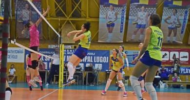 Lugoj Expres CSM Lugoj, doar un punct cu ultima clasată volei feminin volei surpriză înfrângere eșec Divizia A1 Dinamo București CSO Voluntari 2005 CSM Lugoj