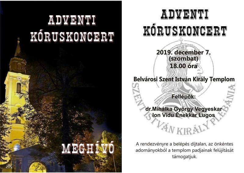 """Lugoj Expres Corul """"Ion Vidu"""", concert de colinde în Ungaria, la Makó Ungaria recital coral Mako Lugoj Crăciun Corul Ion Vidu cor concert colinde cântece"""