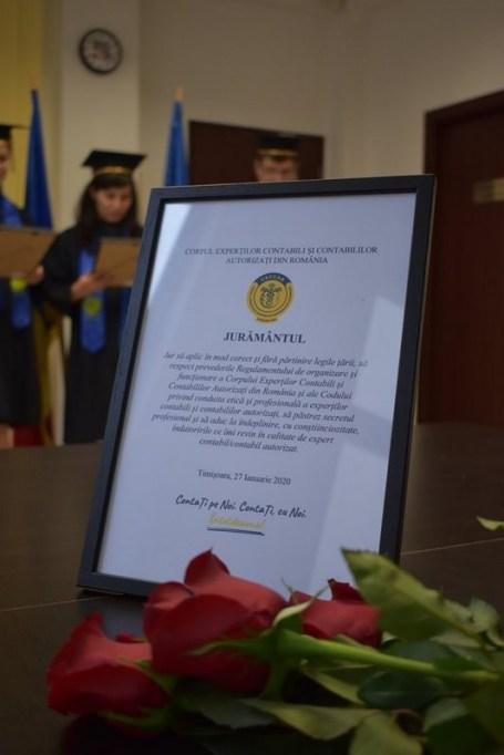 Lugoj Expres O nouă generație de experți contabili din Timiș a depus jurământul jurământ generație experți contabili contabilitate contabili ceremonie CECCAR Timiș CECCAR