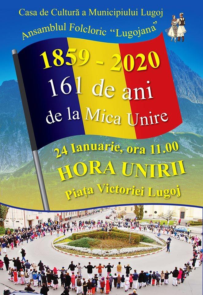 Lugoj Expres Mica Unire, la 161 de ani! Hora Unirii, în centrul Lugojului Unirea Principatelor Române Mica Unire Lugoj hora unirii eveniment centru Lugojului Ansamblul Folcloric Lugojana