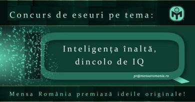 """Lugoj Expres Mensa România premiază ideile originale! Concurs de eseuri pe tema """"Inteligența înaltă, dincolo de IQ"""" premii Mensa IQ inteligența înaltă eseuri dincolo de IQ concurs"""