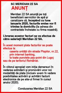 Lugoj Expres anunt meridian facturi
