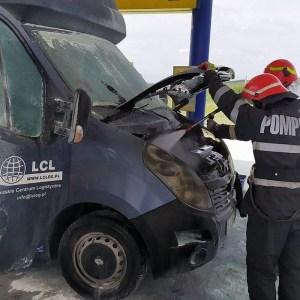 Lugoj Expres incendiu camioneta benzinarie 4