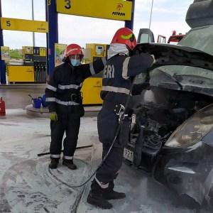 Lugoj Expres incendiu camioneta benzinarie 6