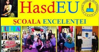 """Lugoj Expres HasdEU la standarde EUropene Standarde europene în școlile timișene standarde europene școlile timișene proiect premiu Liceul Teoretic """"Iulia Hasdeu"""" Lugoj Hasdeu film promoțional concurs afiș promoțional"""
