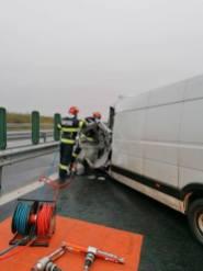 Lugoj Expres Accident grav pe autostrada A1 Lugoj-Deva victimă încarcerată Margina Lugoj Deva autoutilitară autostrada A1 accident grav accident autostrada accident A1 accident