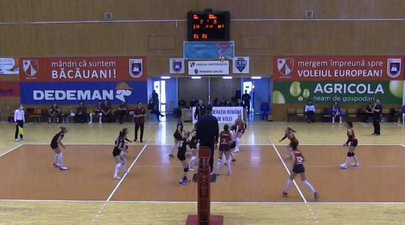 Lugoj Expres CSM Lugoj - debut cu înfrângere în primul turneu al locurilor 5-8 volei feminin volei turneul 5-8 Știința Bacău Rapid București Lugoj Divizia A1 CSO Voluntari CSM Lugoj clasament Bacău
