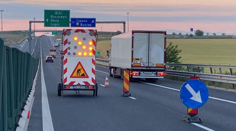 Lugoj Expres Traficul de pe autostrada A1 Timișoara-Lugoj a fost deviat trafic deviat Timișoara Lugoj lucrări de urgență autostrada A1 atenție șoferi