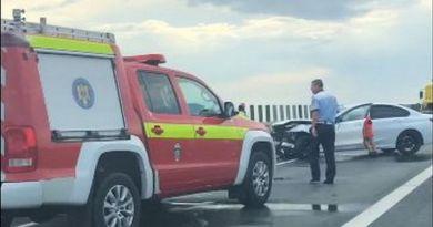 Lugoj Expres Accident pe autostrada A1, cu două BMW-uri Timișoara Lugoj coliziune BMW autostrada A1 accident