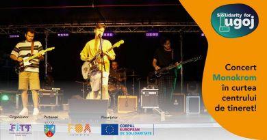 "Lugoj Expres Trupa ""Monokrom"", concert acustic la Lugoj Solidarity for Lugoj Monokrom Lugoj FOA -Fusion of Arts FITT Timisoara concert acustic concert centru de tineret"