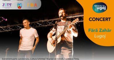 Lugoj Expres Fără Zahăr - concert la Centrul de tineret Lugoj trupă Solidari pentru Lugoj Lugoj Fundația Județeană pentru Tineret Timiș Fără Zahăr Cultura Schimbă concert Centrul de tineret bilete