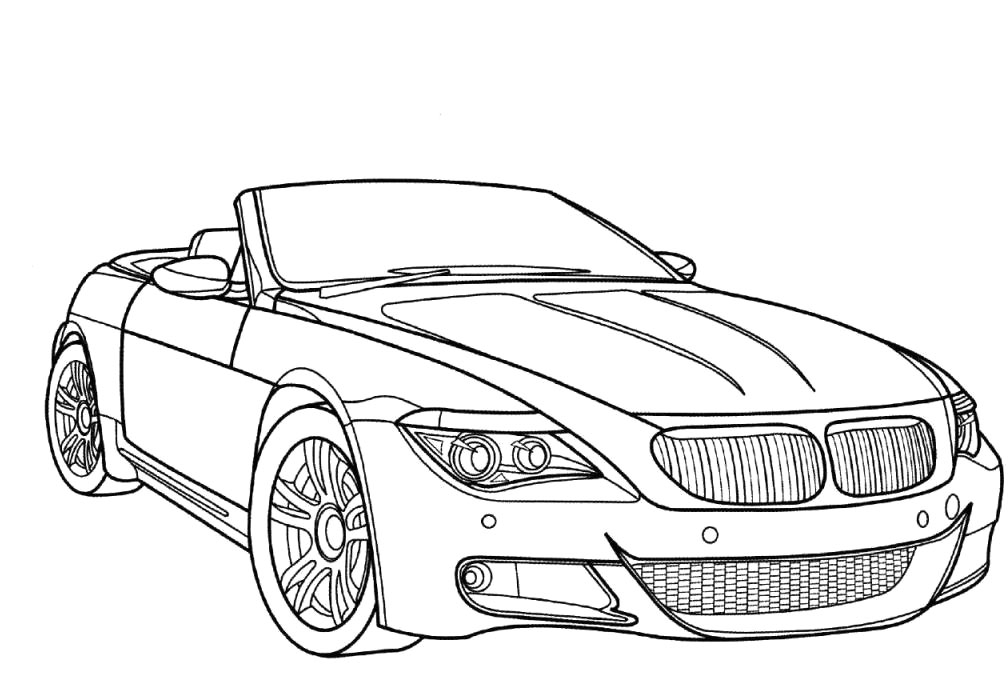 Bmw m6 coloring pages