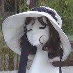 루이엘 <b><어필Ⅱ-끈시리즈></b> 썬햇 와이드햇 큰챙 여행용모자 데일리모자 외출용모자 (3color) 상품 이미지