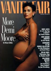 Demi Moore sulla copertina di Vanity Fair del 1991