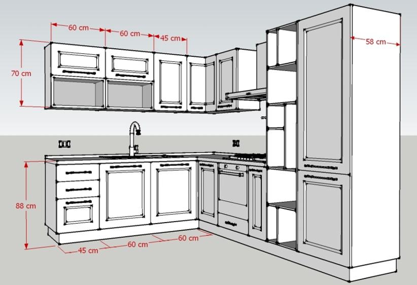 Cucina Corner Misure 1  Luigi Fontana Arredamenti Lissone
